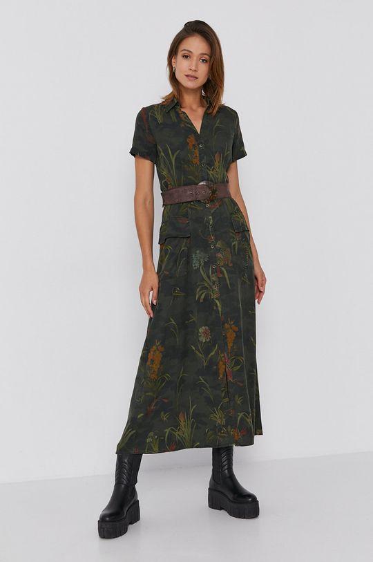 brązowa zieleń Desigual - Sukienka Damski