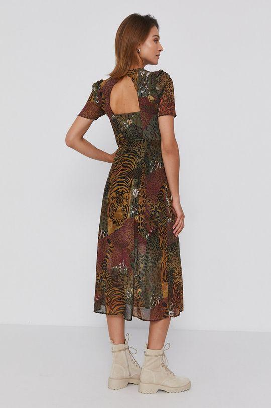 Desigual - Sukienka oliwkowy