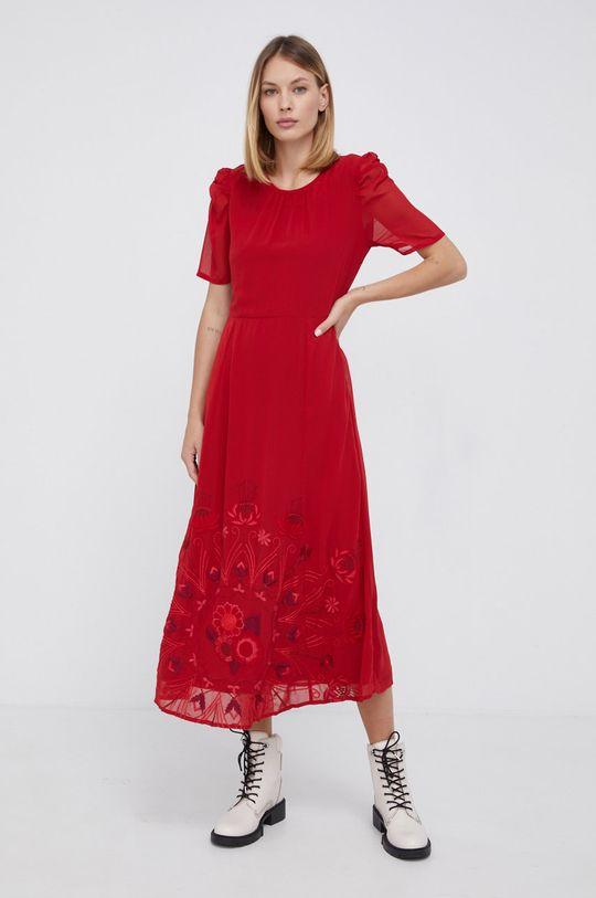 czerwony Desigual - Sukienka Damski