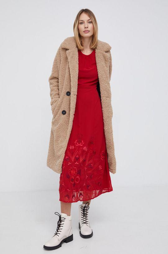 Desigual - Sukienka czerwony