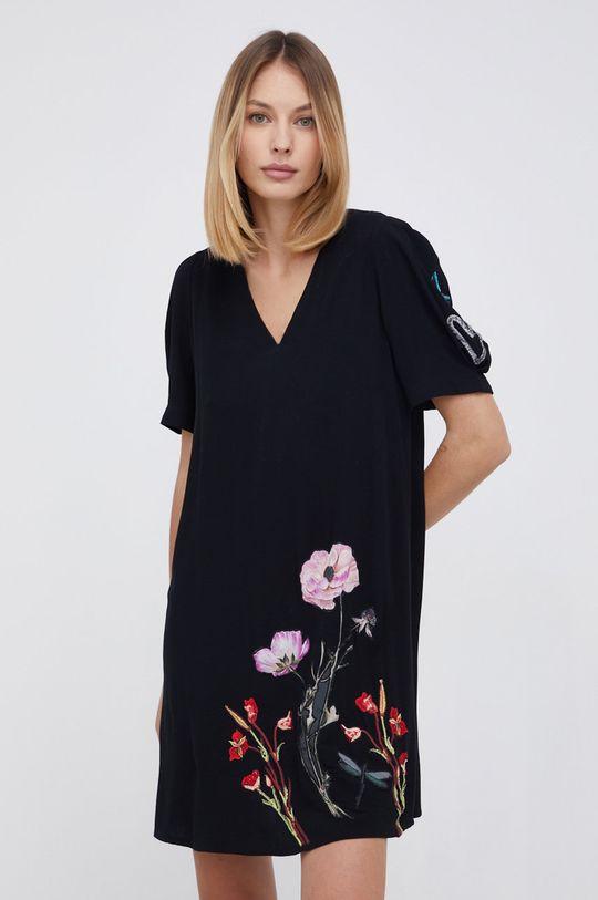 czarny Desigual - Sukienka bawełniana Damski