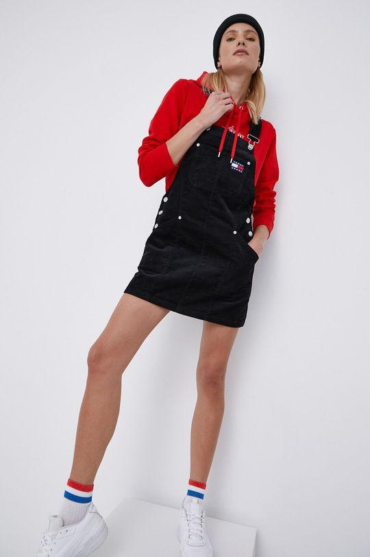 czarny Tommy Jeans - Sukienka sztruksowa Damski