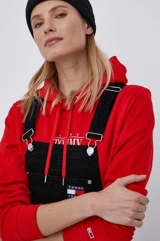 czarny Tommy Jeans - Sukienka sztruksowa