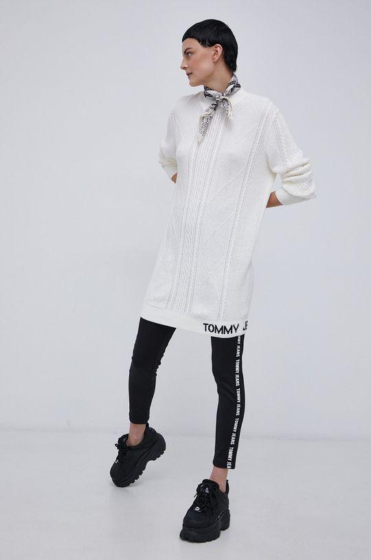 Tommy Jeans - Sukienka biały