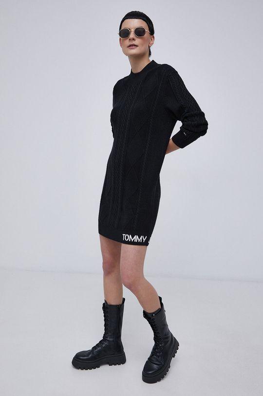 czarny Tommy Jeans - Sukienka Damski