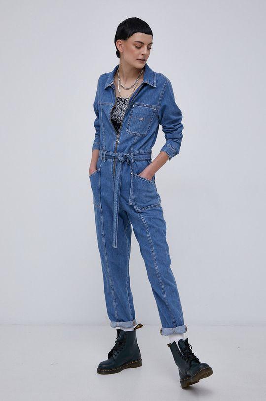 Tommy Jeans - Kombinezon jeansowy niebieski