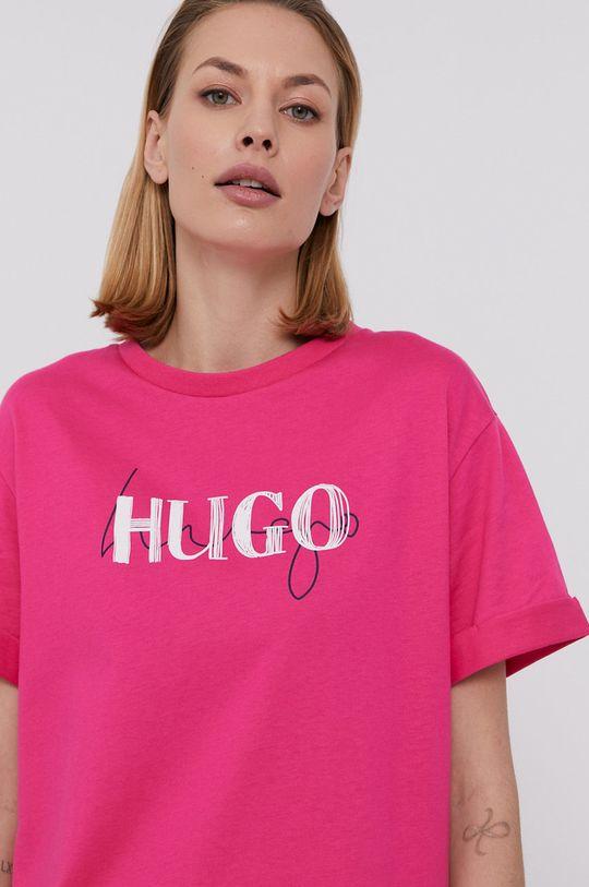 różowy Hugo - Sukienka