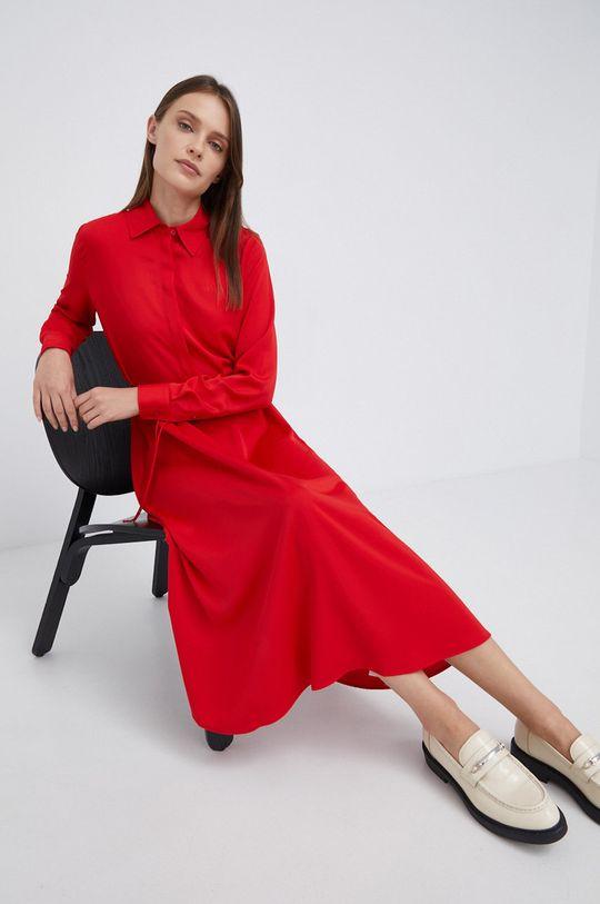 czerwony Calvin Klein - Sukienka Damski