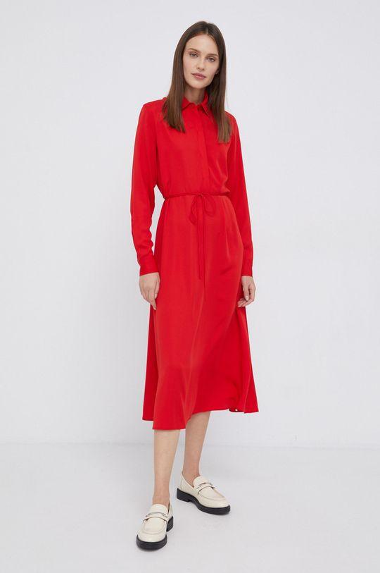 Calvin Klein - Sukienka czerwony