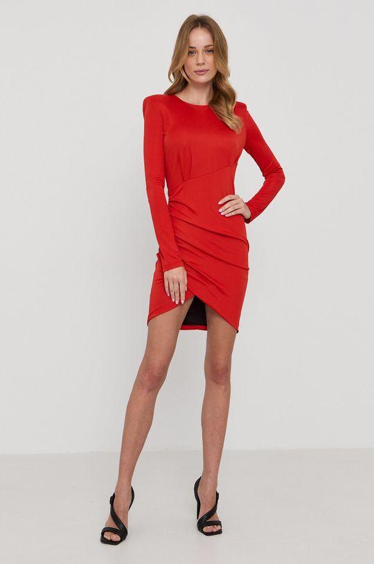 Patrizia Pepe - Sukienka czerwony