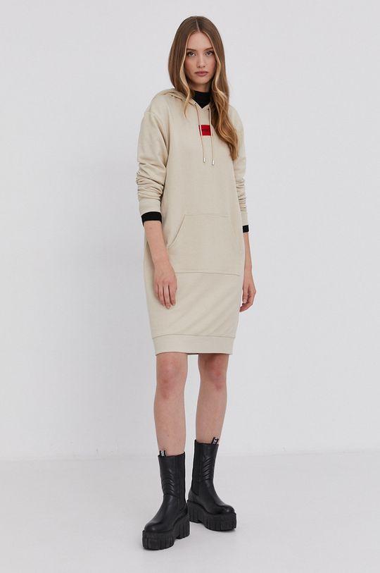 Hugo - Sukienka piaskowy