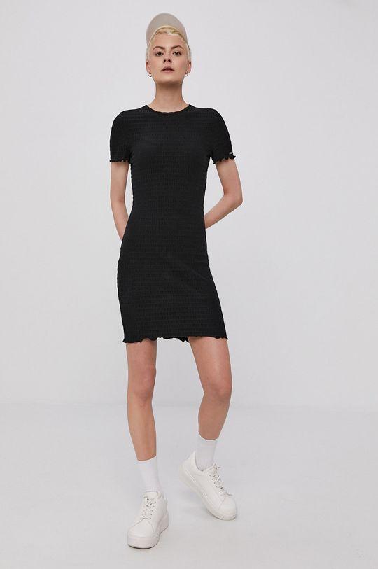 Tommy Jeans - Šaty černá