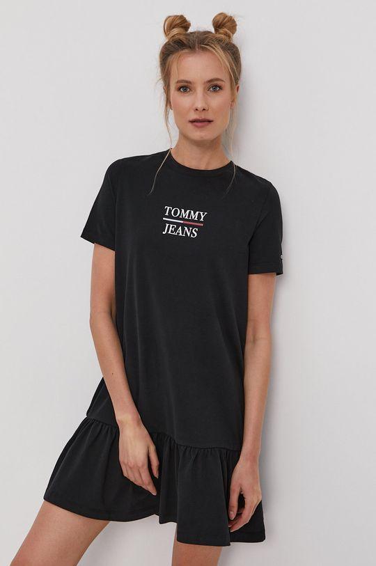 černá Tommy Jeans - Šaty Dámský