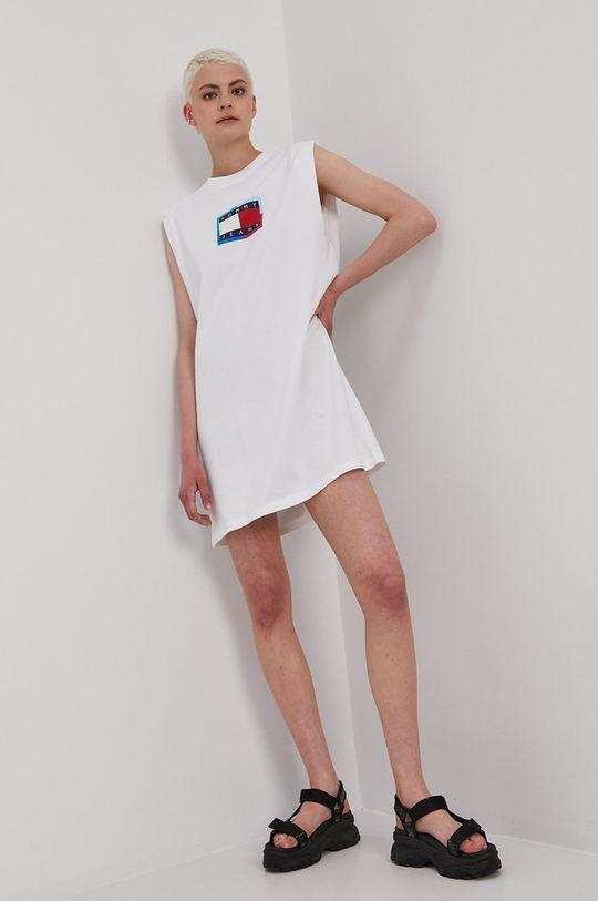 Tommy Jeans - Šaty biela