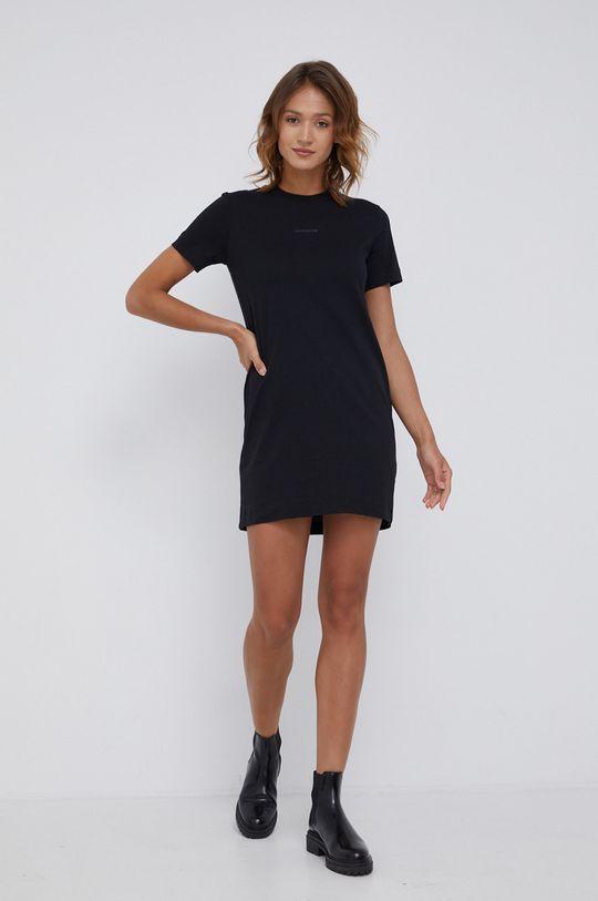 Calvin Klein Jeans - Sukienka bawełniana czarny