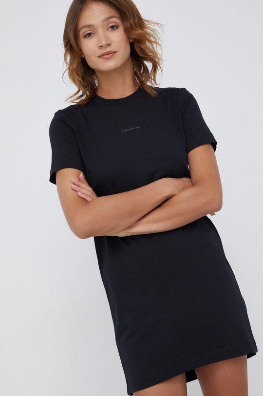 czarny Calvin Klein Jeans - Sukienka bawełniana