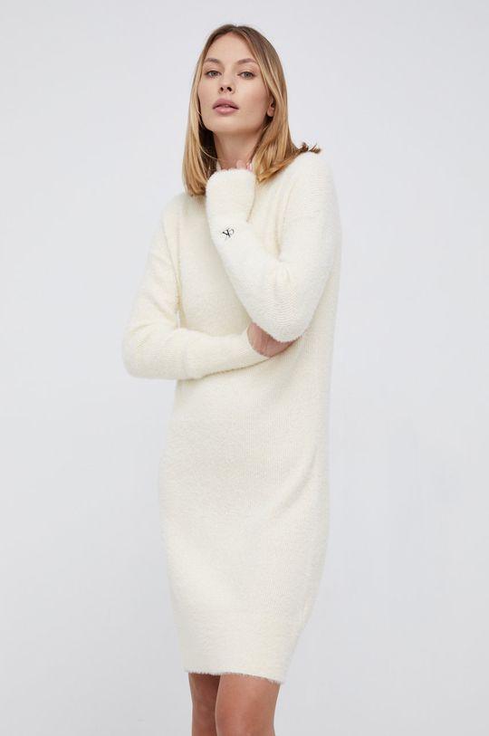 kremowy Calvin Klein Jeans - Sukienka z domieszką wełny Damski