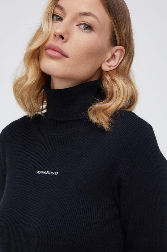 czarny Calvin Klein Jeans - Sukienka z domieszką wełny