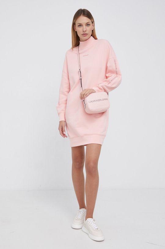 różowy Calvin Klein Jeans - Sukienka bawełniana Damski