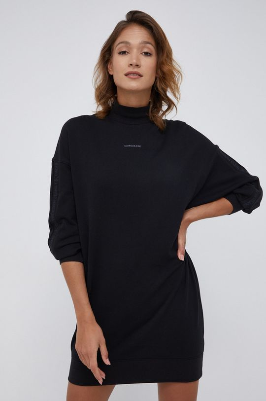 czarny Calvin Klein Jeans - Sukienka bawełniana Damski