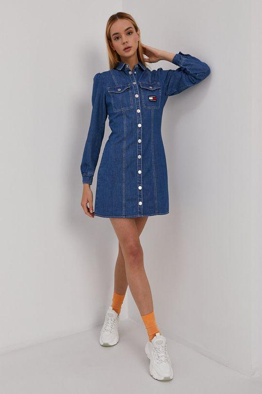 niebieski Tommy Jeans - Sukienka jeansowa Damski
