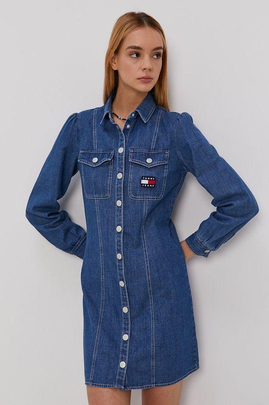 Tommy Jeans - Sukienka jeansowa niebieski
