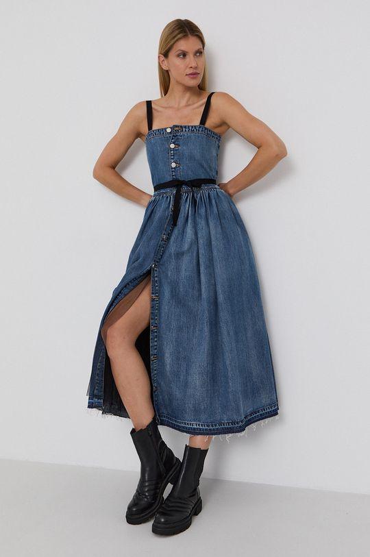 niebieski Red Valentino - Sukienka jeansowa Damski