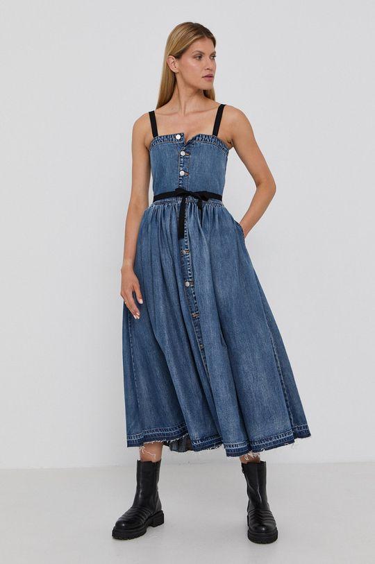 Red Valentino - Sukienka jeansowa niebieski