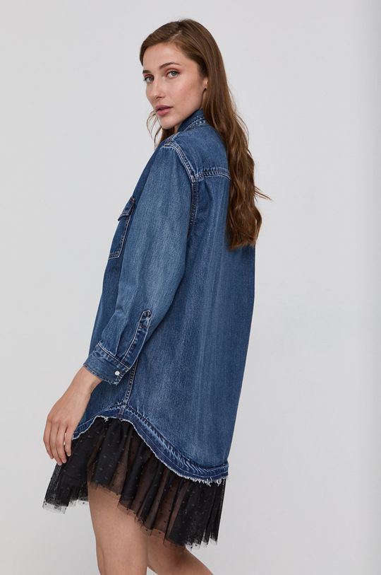 Red Valentino - Sukienka jeansowa Materiał 1: 100 % Bawełna, Materiał 2: 100 % Poliester, Materiał 3: 100 % Poliamid