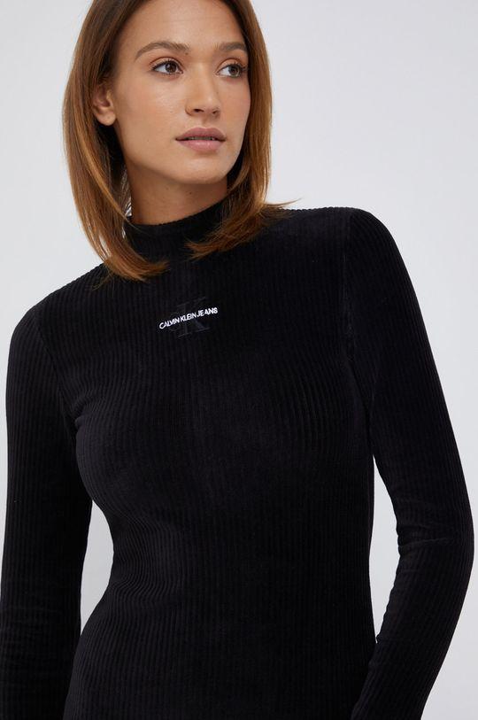 czarny Calvin Klein Jeans - Sukienka sztruksowa