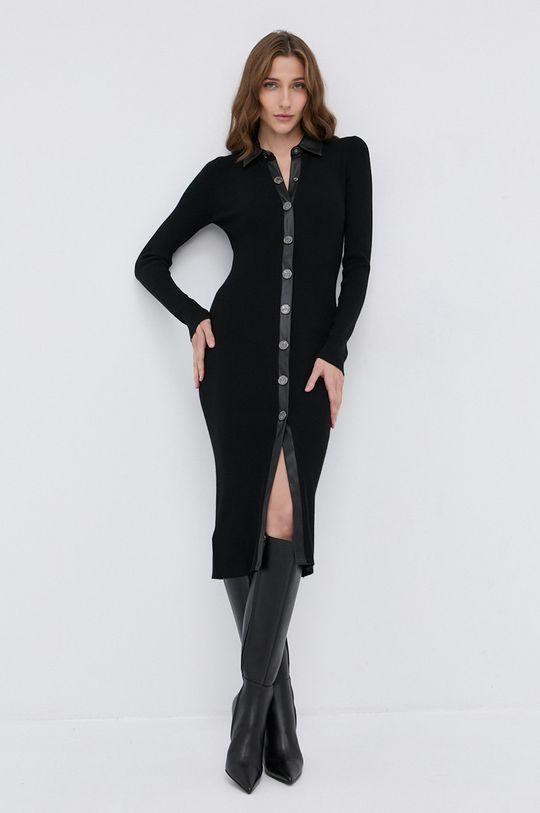 czarny Pinko - Sukienka z domieszką wełny Damski