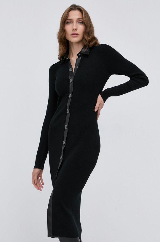 Pinko - Sukienka z domieszką wełny czarny