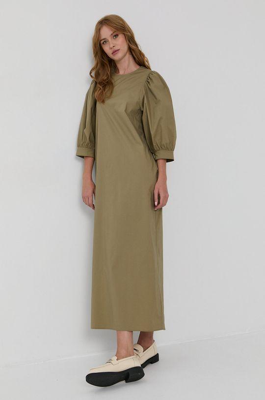 Samsoe Samsoe - Šaty svetlá olivová