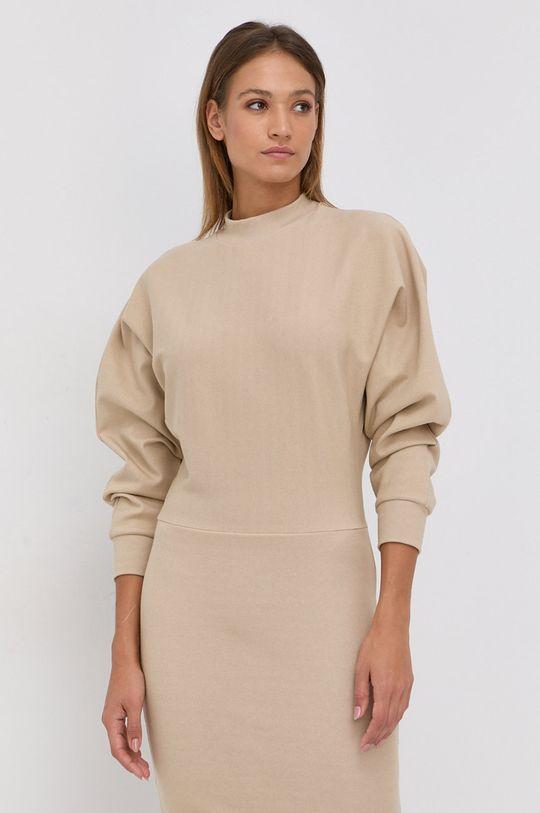 Boss - Sukienka z domieszką wełny Ecosy 1 % Elastan, 32 % Poliester, 10 % Wełna, 57 % Wiskoza
