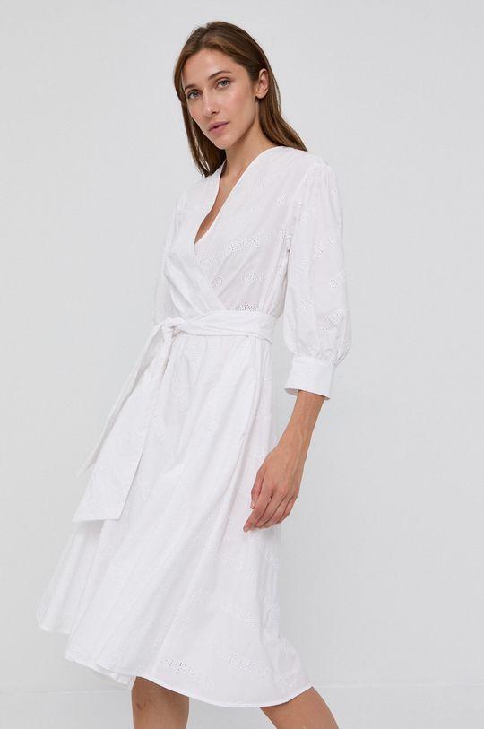 biały Karl Lagerfeld - Sukienka bawełniana Damski