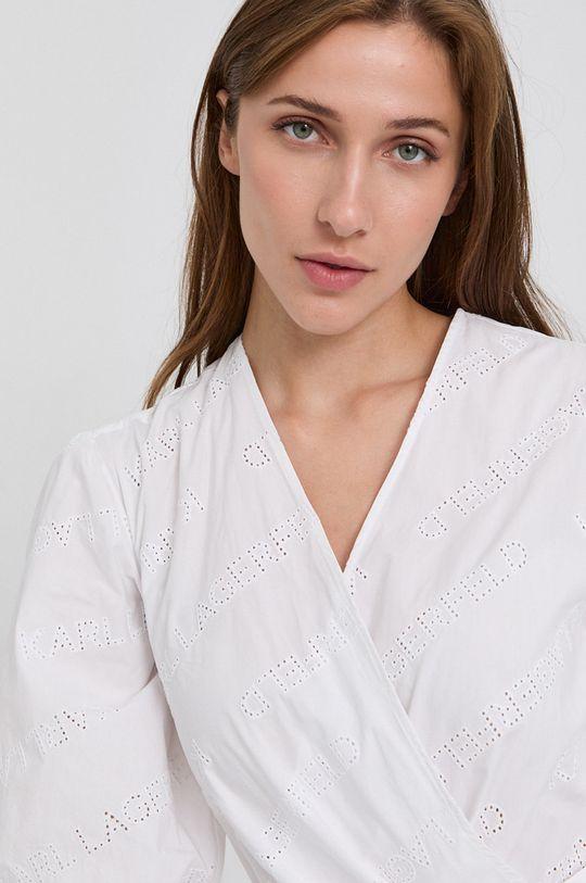 biały Karl Lagerfeld - Sukienka bawełniana