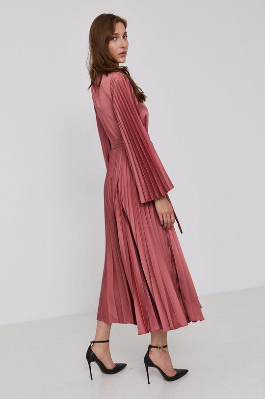Twinset - Sukienka czerwony róż