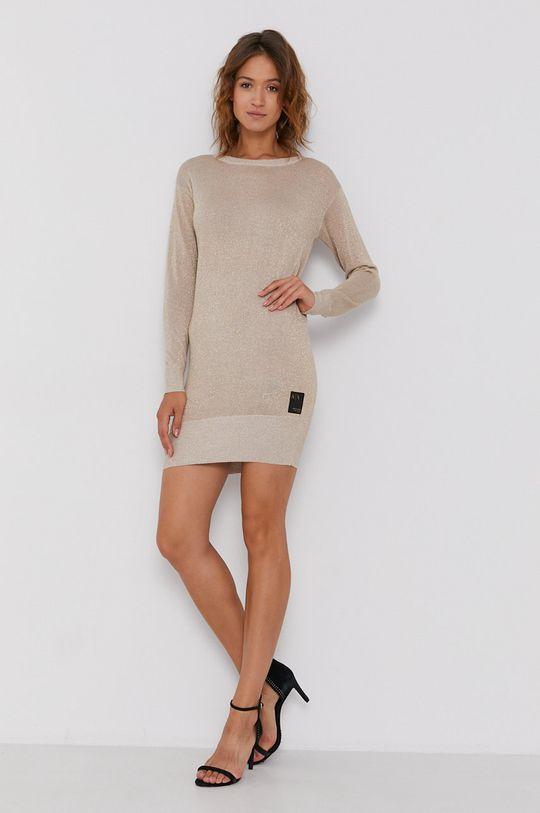Armani Exchange - Sukienka złoty