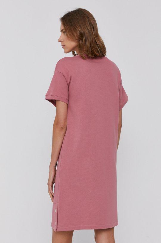 Armani Exchange - Sukienka czerwony róż