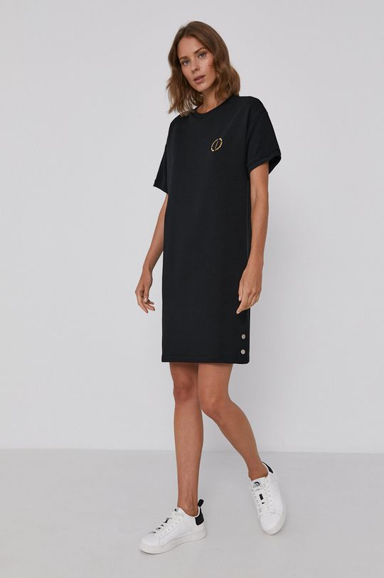 Armani Exchange - Sukienka 66 % Bawełna, 34 % Poliester