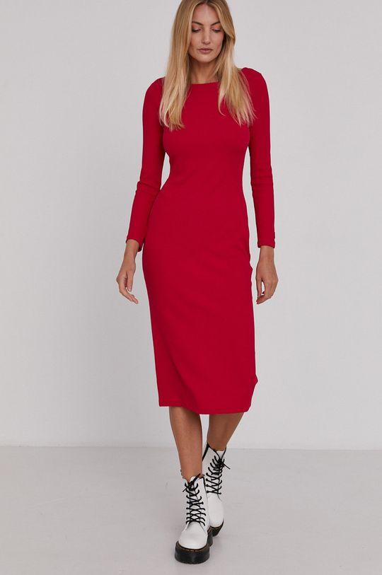 Armani Exchange - Sukienka różowy