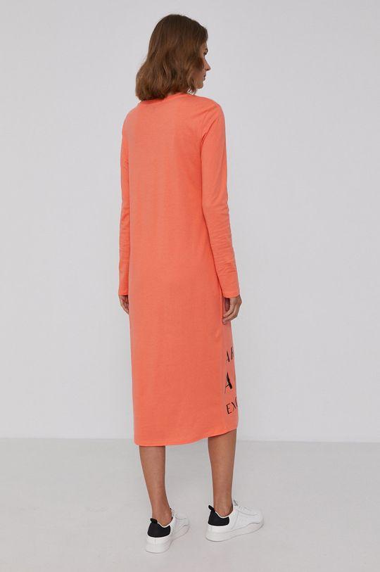 Armani Exchange - Sukienka pomarańczowy