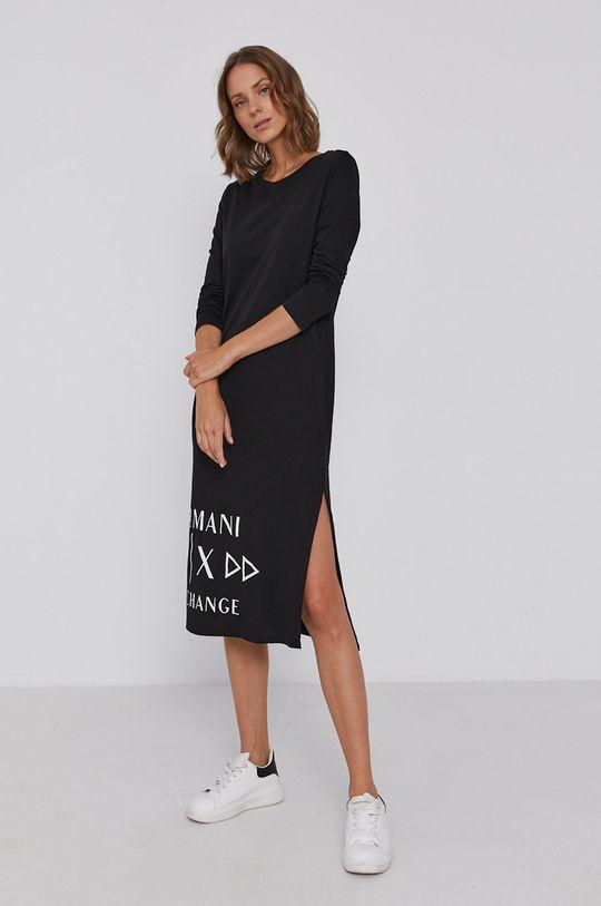 Armani Exchange - Sukienka czarny