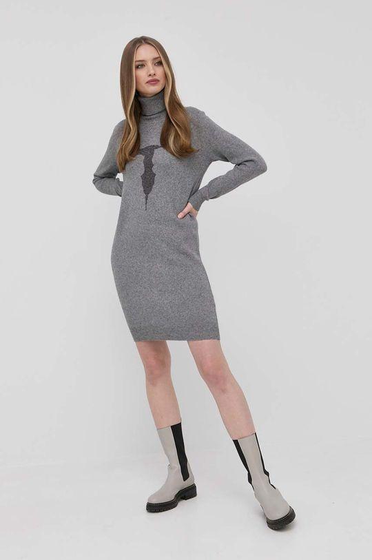 Trussardi - Šaty šedá