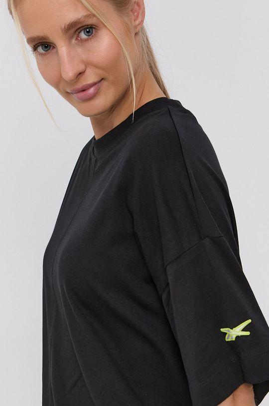 černá Reebok - Bavlněné šaty