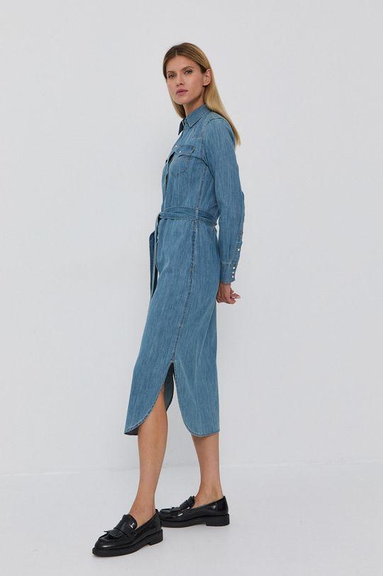 niebieski Lauren Ralph Lauren - Sukienka jeansowa Damski