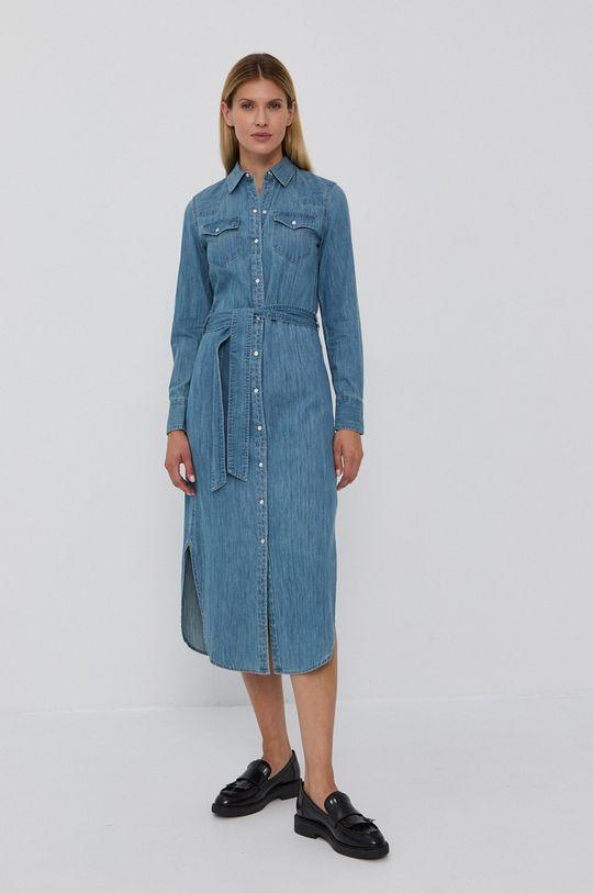 Lauren Ralph Lauren - Sukienka jeansowa niebieski