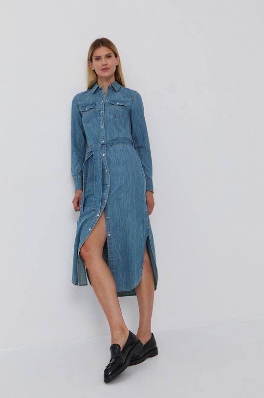 niebieski Lauren Ralph Lauren - Sukienka jeansowa