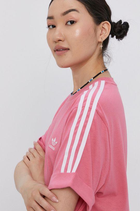 różowy adidas Originals - Sukienka