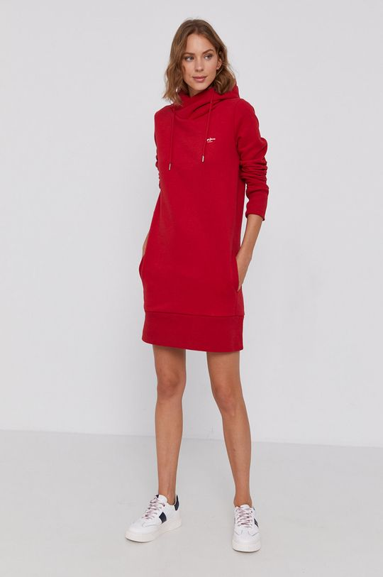 Pepe Jeans - Sukienka Gisela czerwony